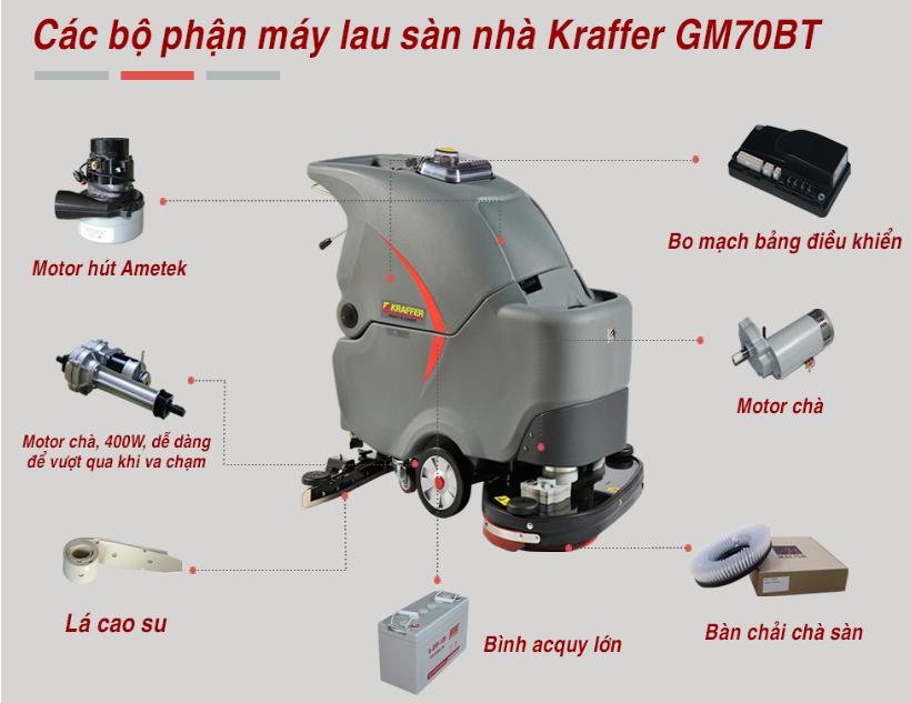 Máy cọ rửa lau sàn Kraffer GM 70BT