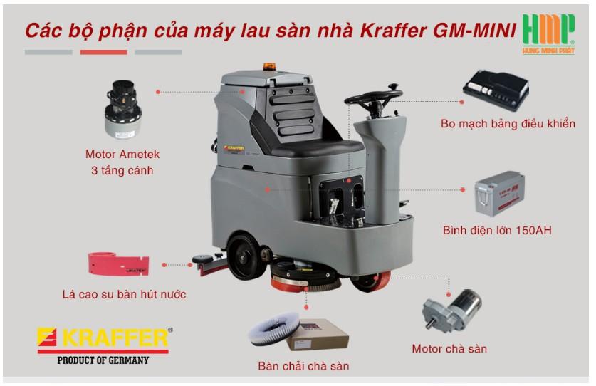 Máy chà sàn ngồi lái Kraffer GM-MINI