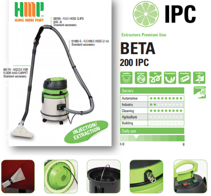 Máy hút bụi giặt thảm IPC BETA 200