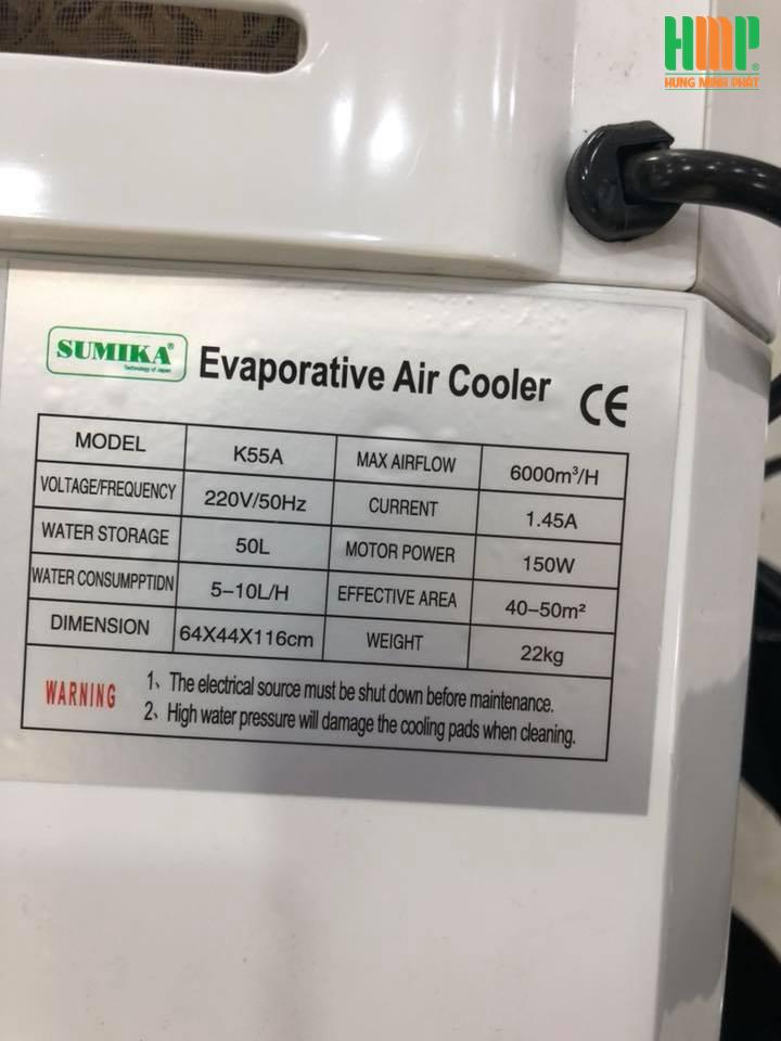 Máy làm mát không khí SUMIKA K55A(2018)