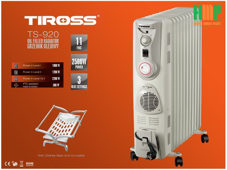 Máy sưởi dầu Tiross TS920