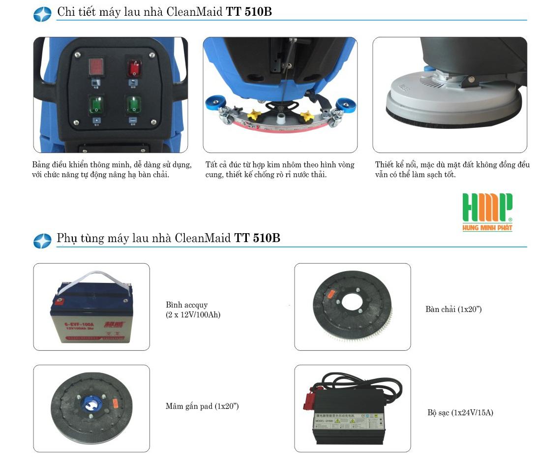 Máy lau sàn nhà CleanMaid TT 510B