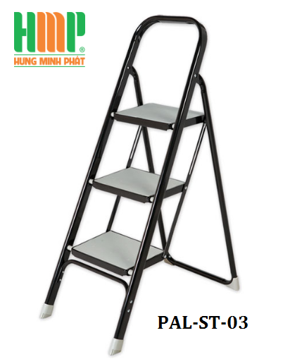 Thang nhôm ghế 3 bậc bản to PAL ST-03