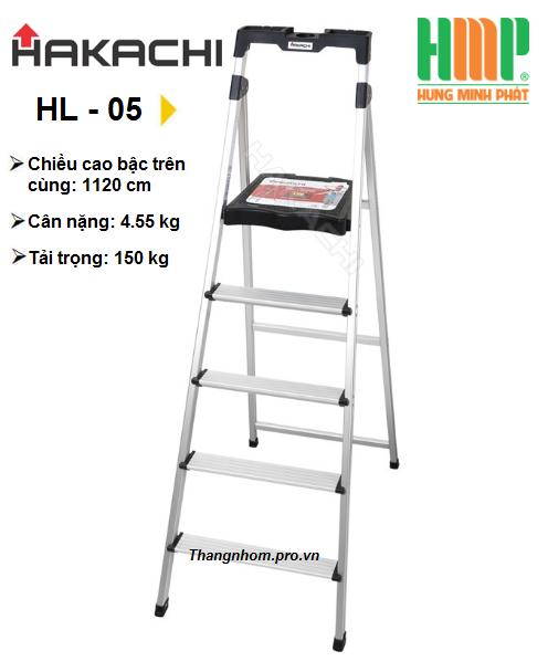 Thang nhôm ghế 5 bậc Hakachi HL-05