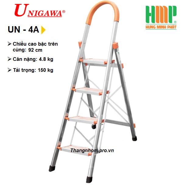 Thang nhôm ghế 4 bậc Unigawa UN-4A
