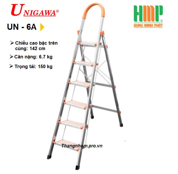 Thang nhôm ghế 6 bậc Unigawa UN-6A