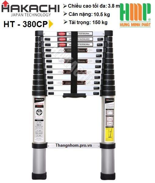 Thang nhôm rút gọn Hakachi HT-380 CP