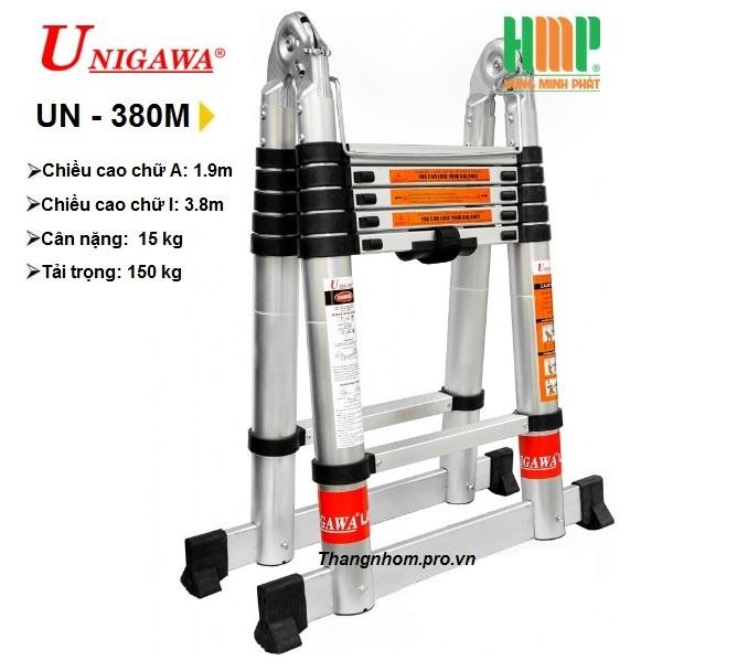Thang nhôm rút gọn đa năng UNIGAWA UN-380M(3,8m)