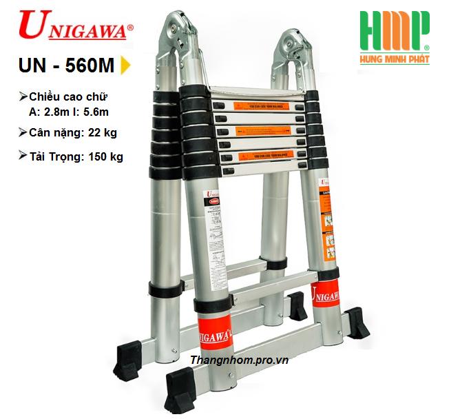 Thang nhôm rút gọn đa năng UNIGAWA UN-560M(5,6M)