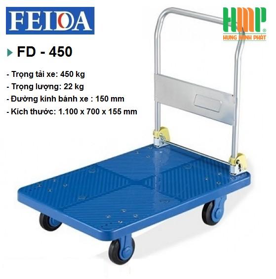 XE ĐẨY SÀN NHỰA FEIDA FD-450 (450KG)
