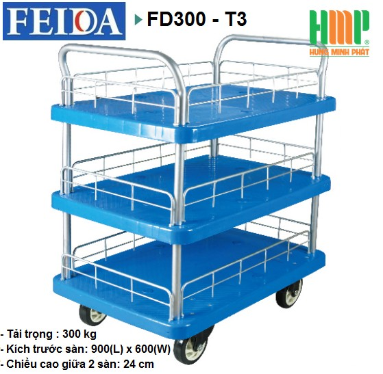 XE ĐẨY SÀN NHỰA FEIDA FD300-T3