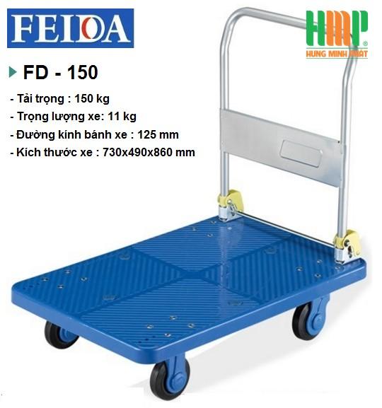 XE ĐẨY SÀN NHỰA FEIDA FD-150 (150KG)