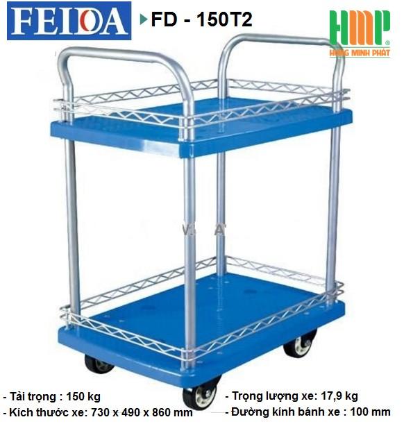 XE ĐẨY SÀN NHỰA FEIDA FD-150T2 (150KG)