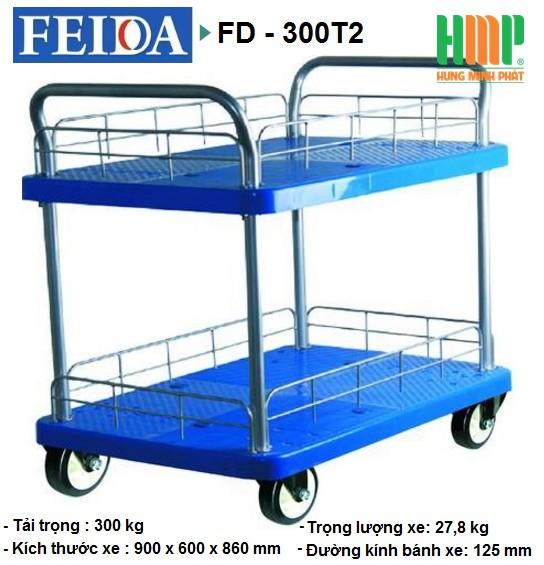 XE ĐẨY SÀN NHỰA FEIDA FD-300T2 (300KG)