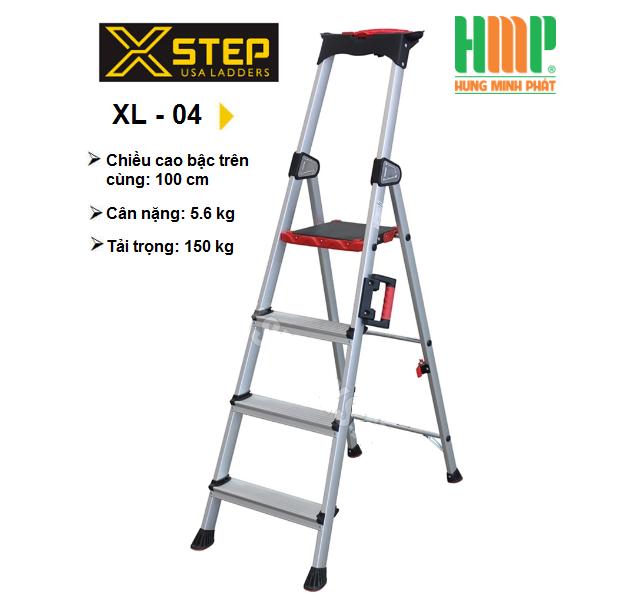THANG NHÔM GHẾ 4 BẬC XSTEP XL-04
