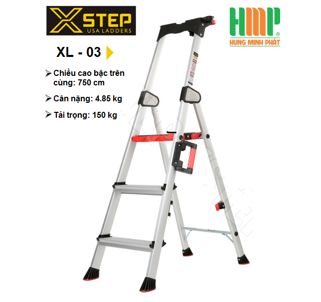 THANG NHÔM GHẾ 3 BẬC XSTEP XL-03