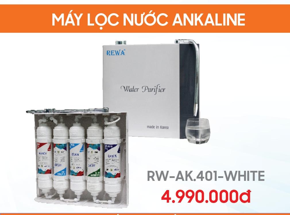 Máy lọc nước treo tường Ankaline RW-AK-401 Trắng (White)