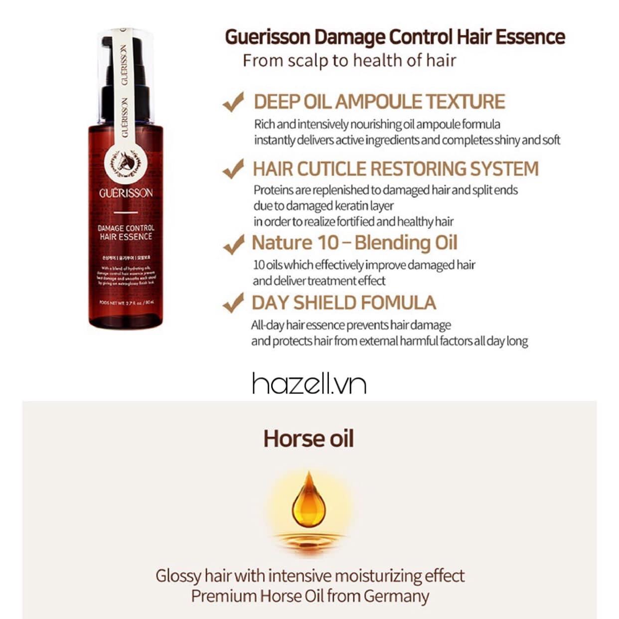 Tinh chất Dưỡng tóc Guerisson Damage Control Hair Essence - 80ml
