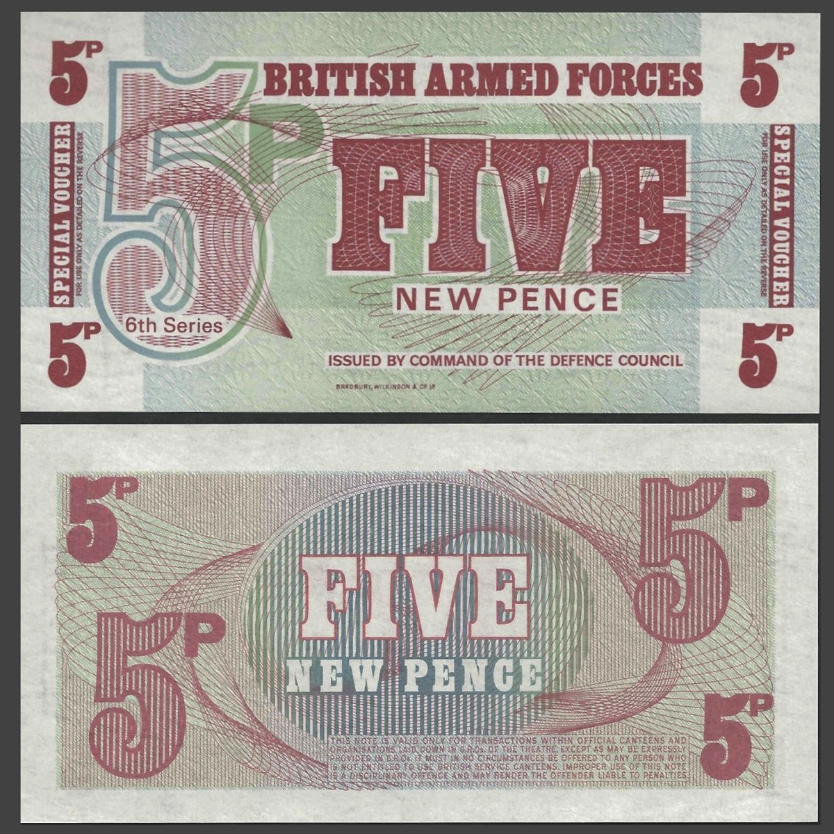 Great Britain (Anh) 5 new pence 1972