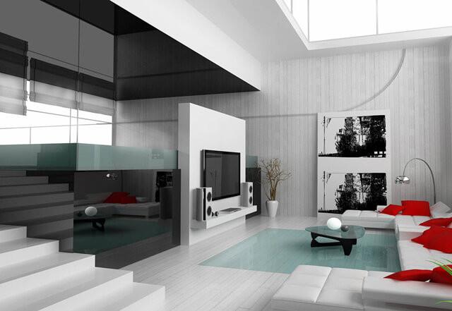 Phối màu nội thất phong cách hiện đại
