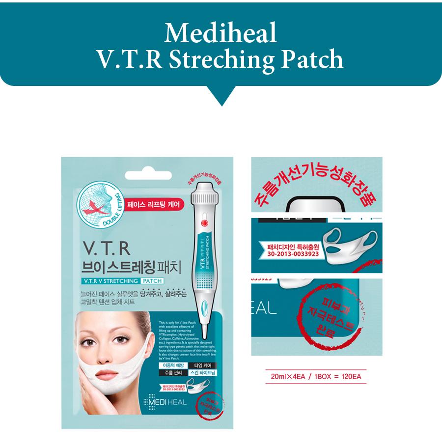Kết quả hình ảnh cho Mặt Nạ Nâng Cơ Mediheal V.T.R V Stretching Patch