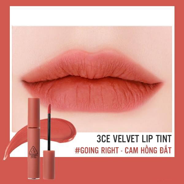 Kết quả hình ảnh cho son 3ce velvet lip tint going right