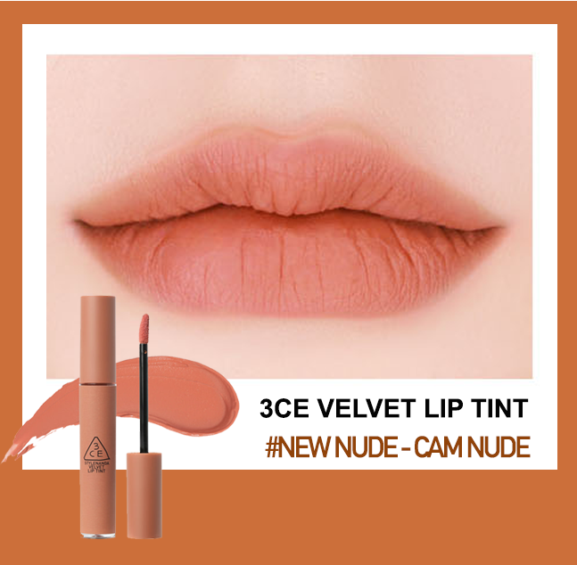 Kết quả hình ảnh cho son 3ce velvet lip tint newnude