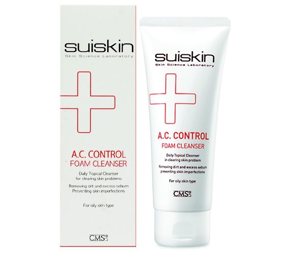 Sữa rửa mặt trị mụn Suiskin A.C.Control Foam Cleanser 150ml