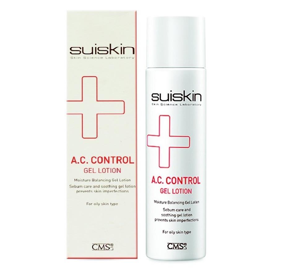[Phân phối chính hãng] Gel dưỡng da trị mụn cho da dầu, mụn Suiskin A.C.Control Gel Lotion 150ml
