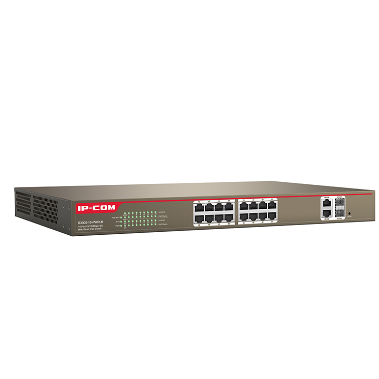 Switch IP-COM S3300-18-PWR-M 16-Port 100M+2-Port Gigabit TP/SFP