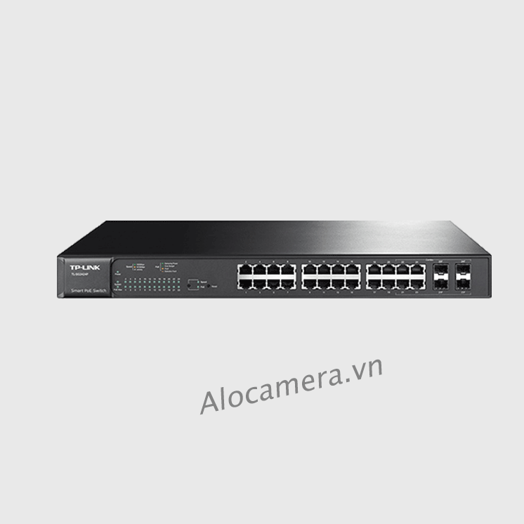 Switch mạng TP Link 24-port PoE Switch T1600G-28PS