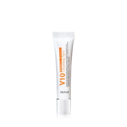 Serum phục hồi da nám, tàn nhang, vết sạm, đồi mồi, thâm quầng mắt cao Cấp V10 Gleaming Spot Skinaz Hàn Quốc - 15ml