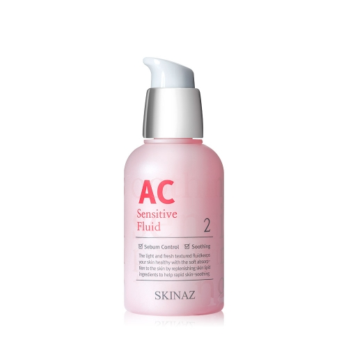 Tinh Chất cao cấp phục hồi da nhạy cảm bị hư tổn, mịn da, giảm mụn, kiểm dầu, trắng sáng da AC Sensitive Fluid Skinaz Hàn Quốc - 50 ml