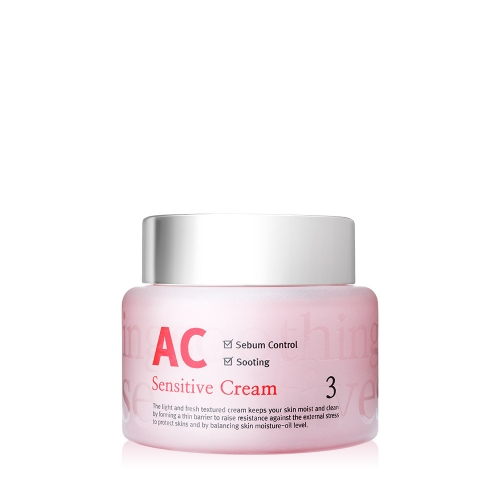 Kem dưỡng da cao cấp dành cho da nhạy cảm, da dầu, da mụn phục hồi da hư tổn AC Sensitive Cream Skinaz Hàn Quốc - 100 ml