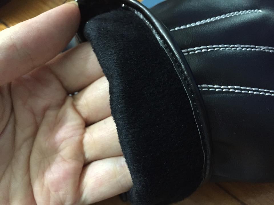 Găng tay da siêu cảm ứng lót nỉ