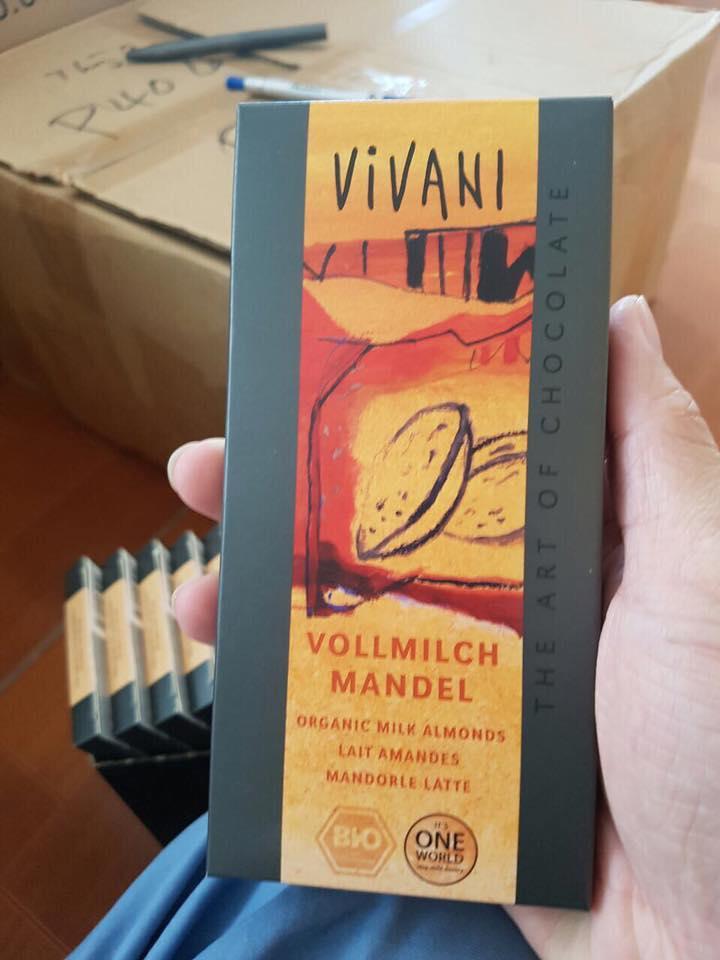 Socola hạnh nhân Vivani (100g)