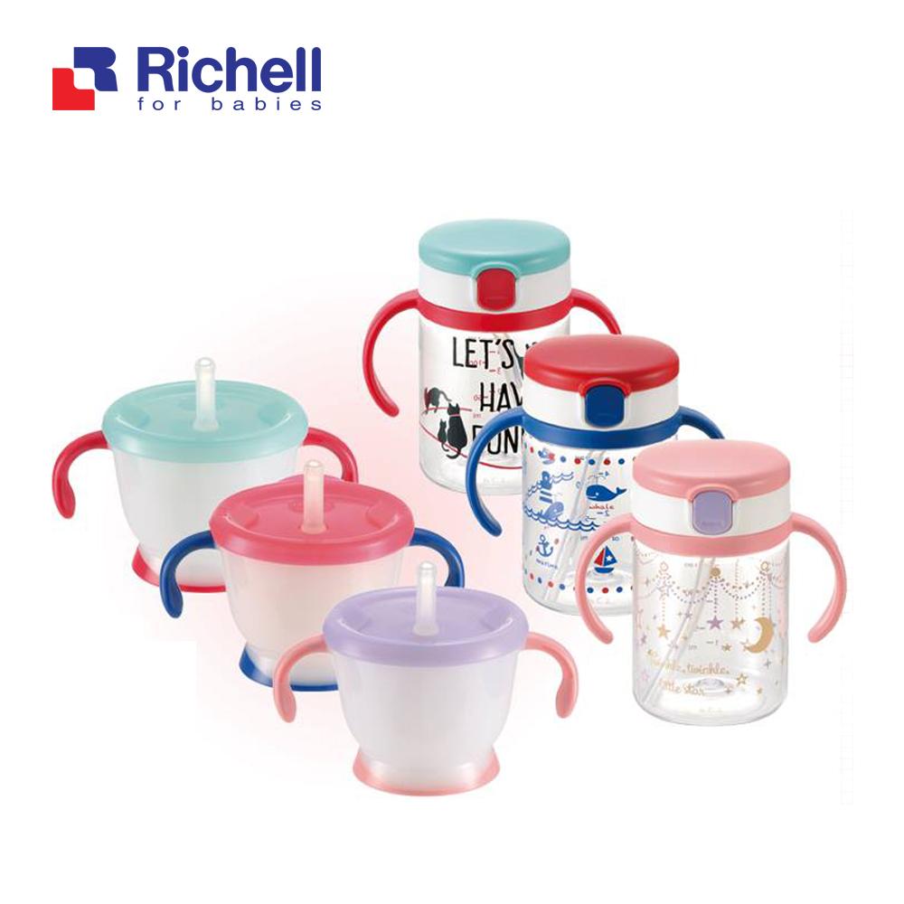 BỘ HAI CỐC TẬP UỐNG RICHELL ĐỎ RC41043