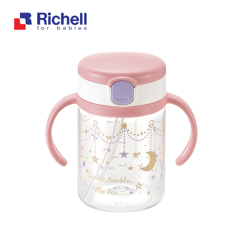 CỐC ỐNG HÚT TAY CẦM HỒNG RICHELL 200ML RC41022