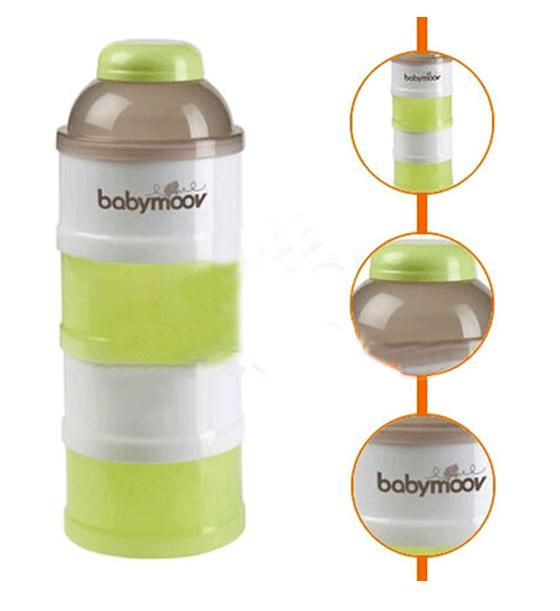 Hộp chia sữa 4 tầng Babymoov  (màu xanh) Milk Dispenser BM00923