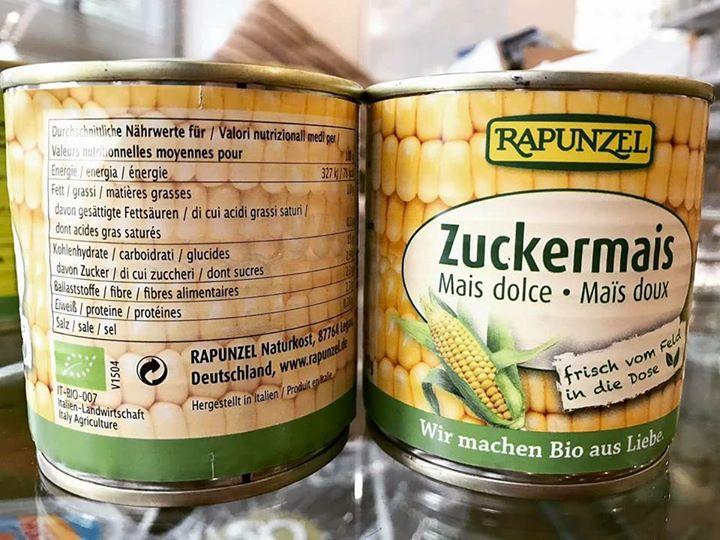 Ngô ngọt hữu cơ Rapunzel (160g)