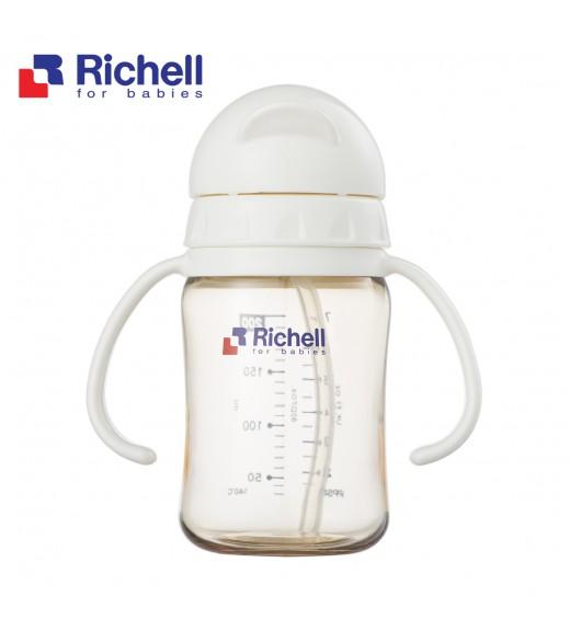 BÌNH ỐNG HÚT PPSU RICHELL 200ML TRẮNG RC99123