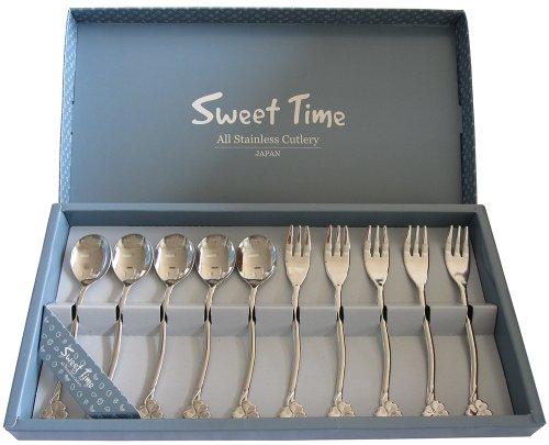 Bộ 10 thìa dĩa Inox Sweet Time