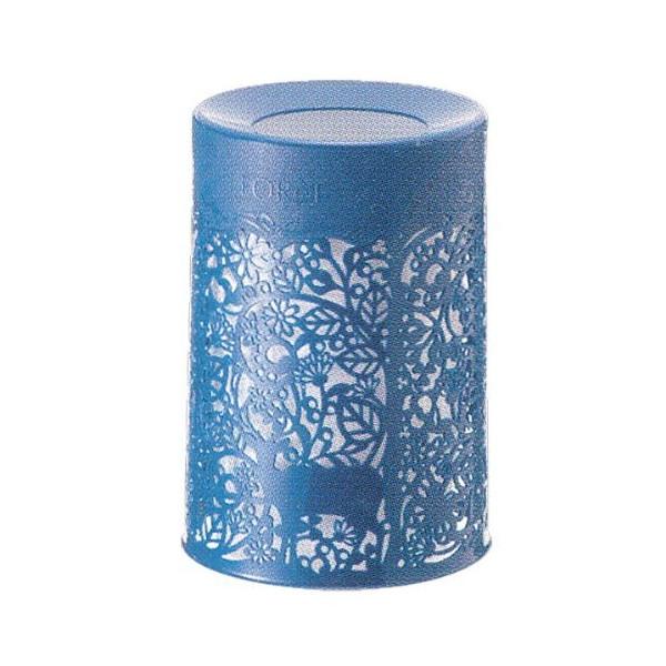 Thùng rác 2 lớp mẫu hoa văn cao cấp (màu xanh)