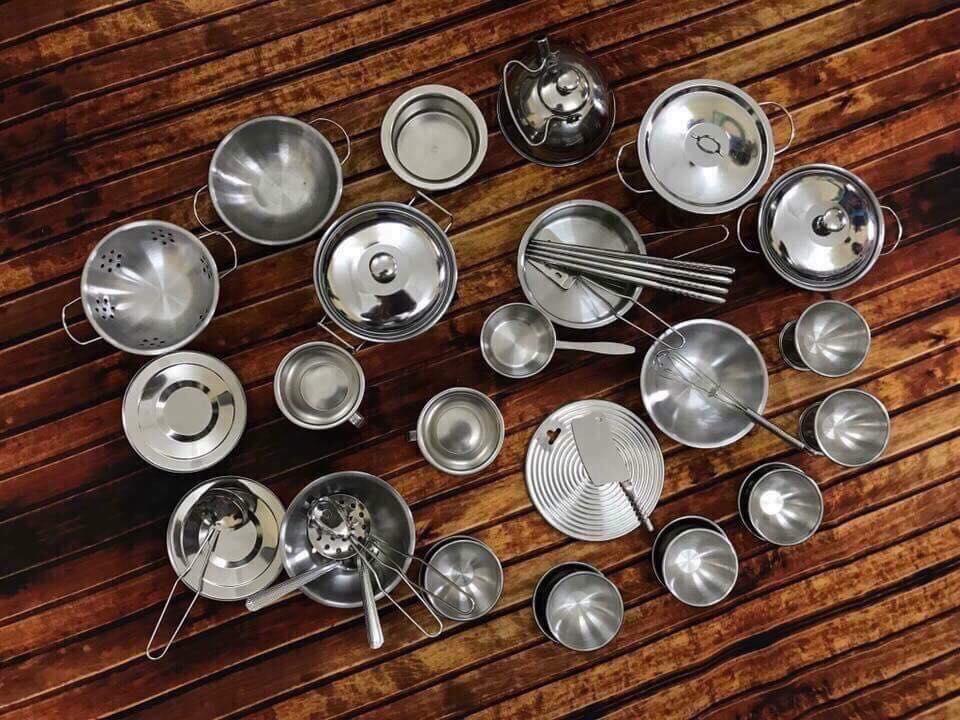 Bộ đồ chơi nấu ăn INOX (40 chi tiết)