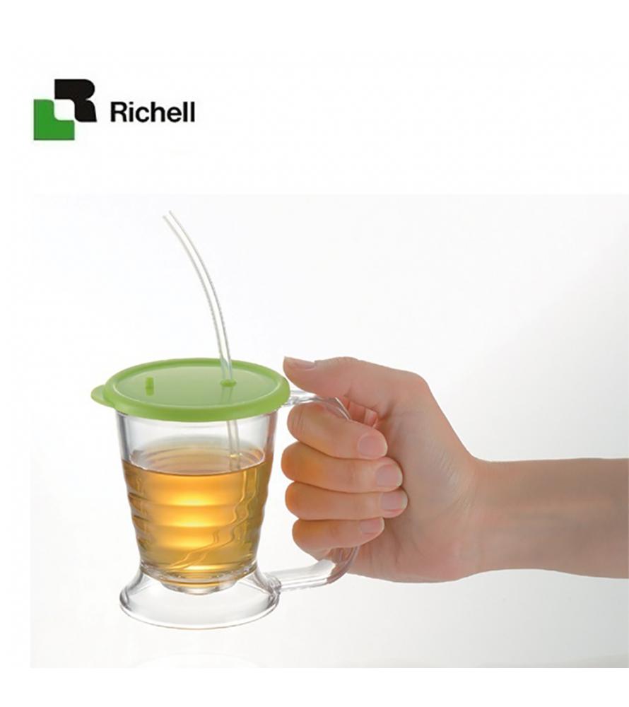 Cốc ống hút mềm TI-2 chức năng Richell RC18421