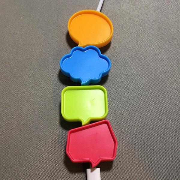 Kẹp đánh dấu dây cáp 4 cái Inomata (Kèm sticker dán)