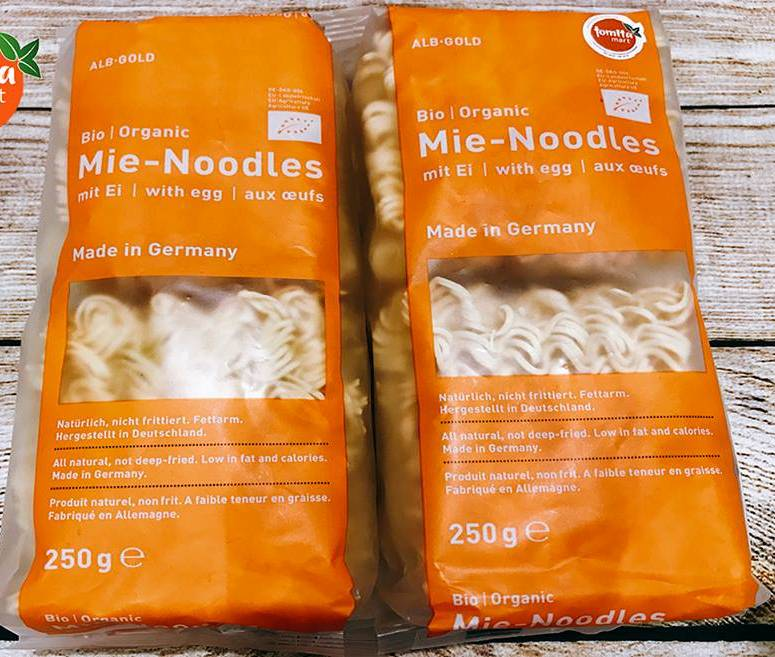 Mì trứng ăn liền hữu cơ Mie Noodles 250g