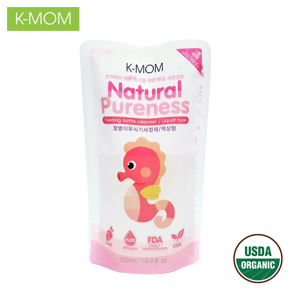 Nước rửa bình & rau quả hữu cơ  K-Mom Hàn Quốc dạng túi (500ml) K-MOM baby bottle cleanser_500ML