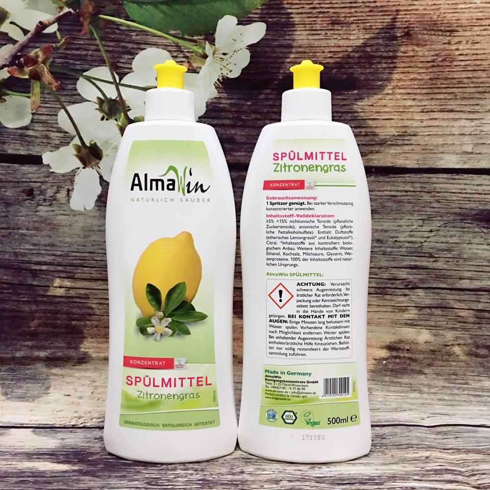 Nước rửa chén hữu cơ Almawin