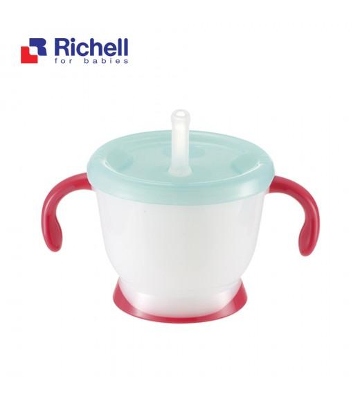 CỐC TẬP UỐNG 3 GIAI ĐOẠN RICHELL (TAY ĐỎ) RC41013